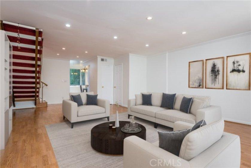 Sun-filled living room