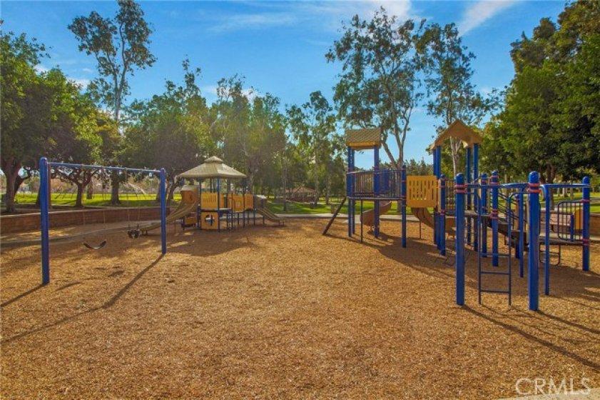 Santiago Hills Park play area.