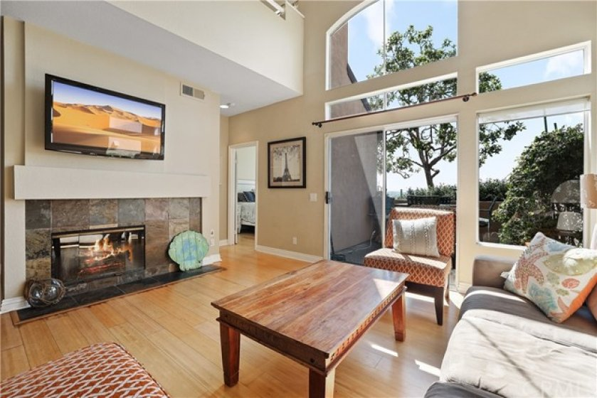 Fire place in main living area
