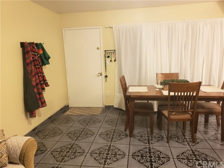 View of Living Dining Room Combo from Staircase.