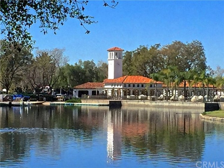 Association Club House with paddle boats and a children's pool