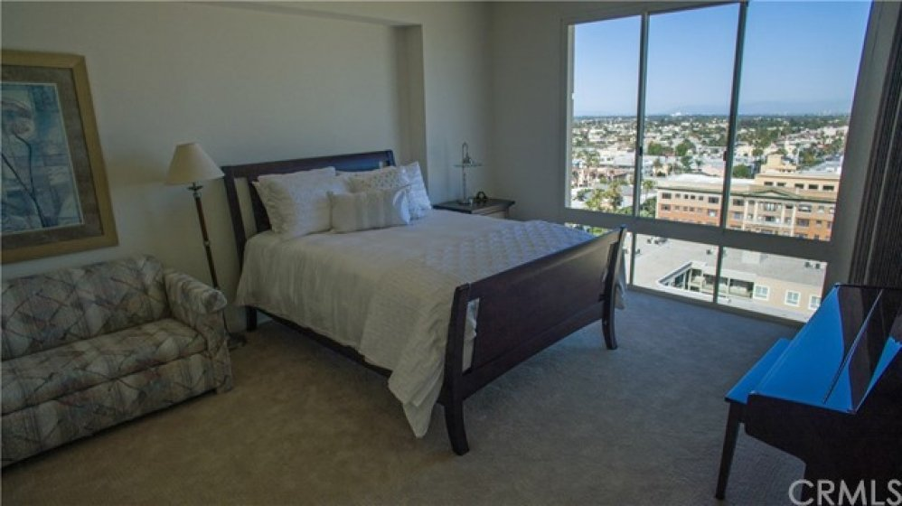 master bedroom has both city and ocean view