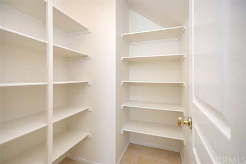 Check out this walk-in pantry!  You can store a ton of items in here!