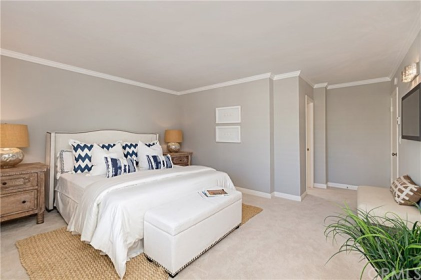 Master Bedroom with a large walk-in closet.