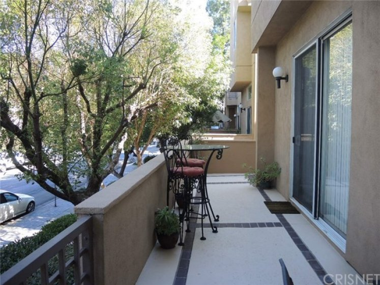 Opposite view of the wrap-around patio