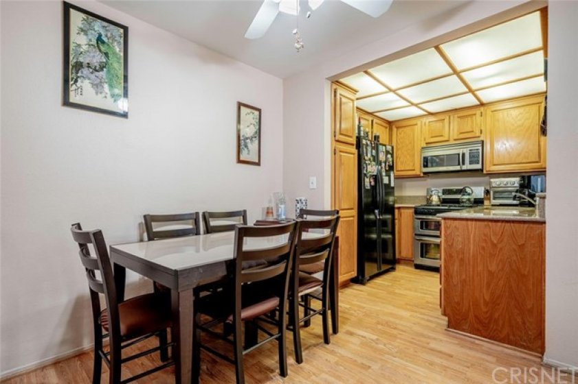 Dining area right off of kitchen