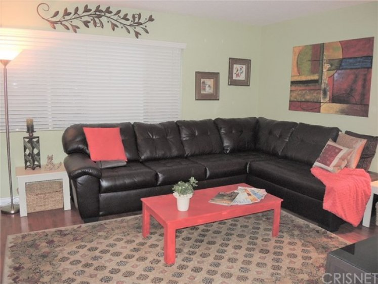 Family room is a great place for friends/family to congregate while you're preparing a meal
