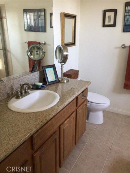 Master bath w/granite counter tops.  Shower and bathtub in same room.