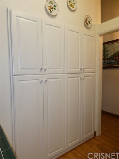Custom wall pantry cabinet