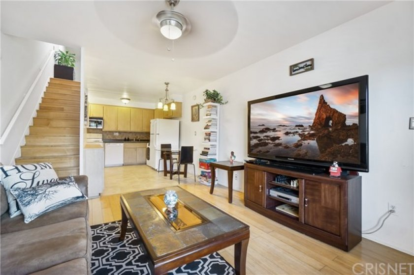 2 story condo with open concept living/dining/kitchen area.