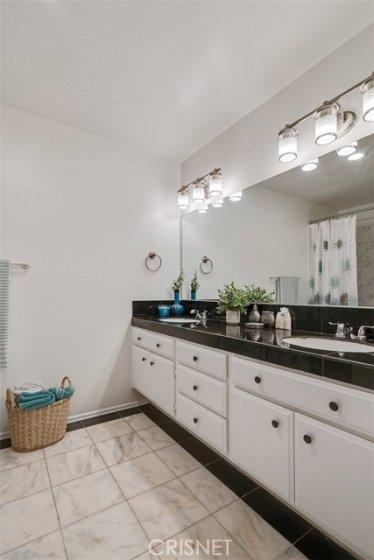 MASTER BATHROOM - BEAUTIFUL VANITY - DOUBLE SINKS