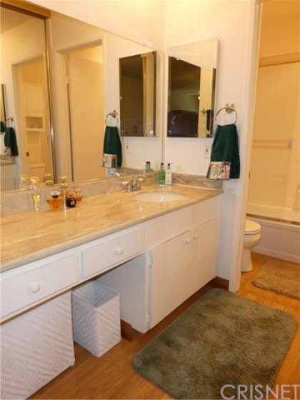 Master dressing area vanity.