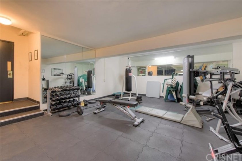 Community Fitness center located on the garage level