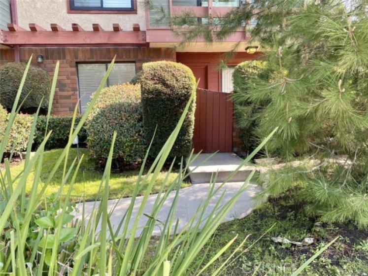 Private walkway to front door