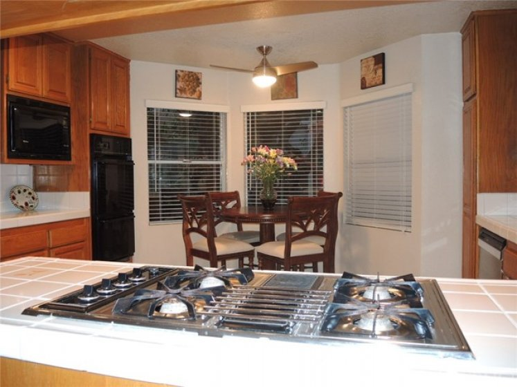 View of kitchen as seen from adjacent family room