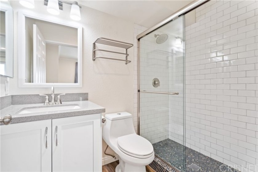 Fully renovated primary suite bathroom