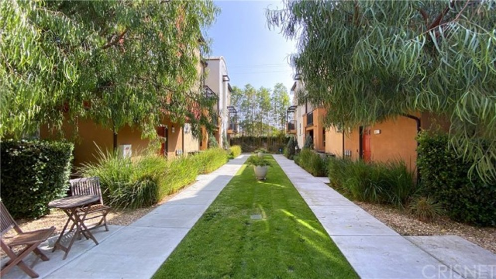 Lovely grassy area in the complex for walking your dogs or chasing your cats!