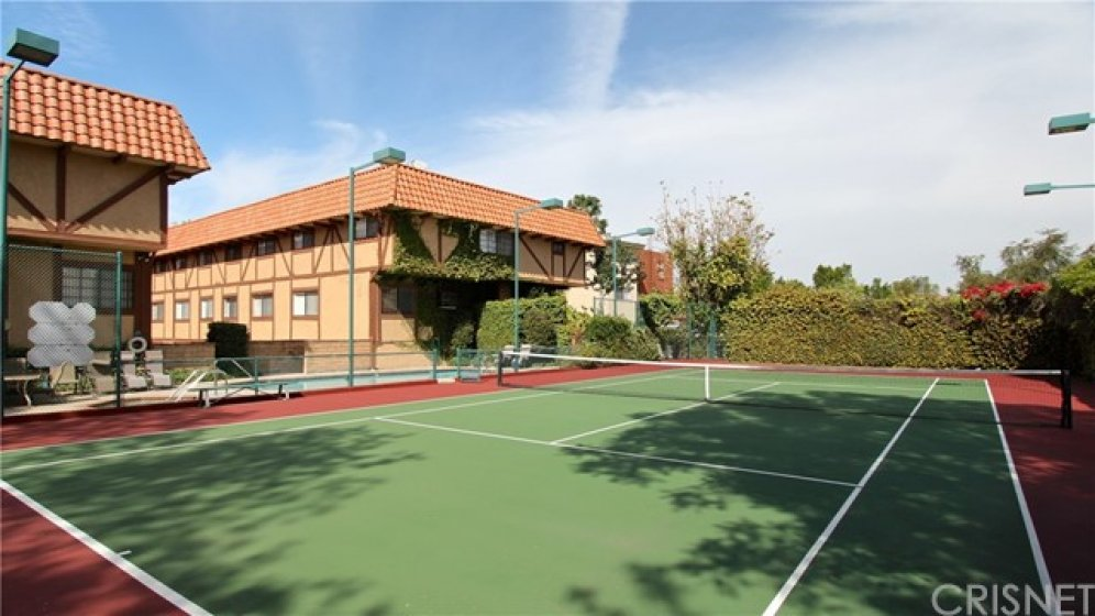 Tennis court which was re-surfaced by the HOA about 7 years ago.