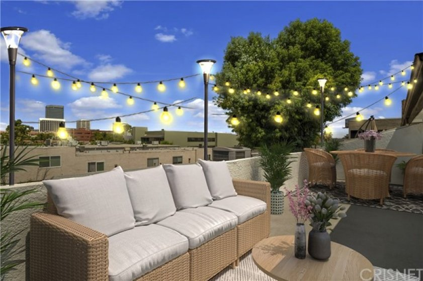 Rooftop deck - virtually staged