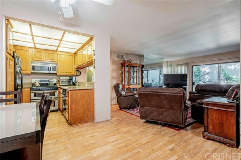 Open yet defined kitchen and living area