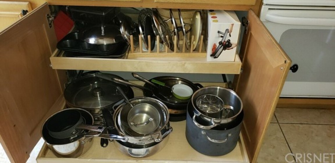 Kitchen - custom pull out drawers