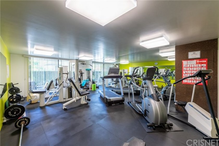 State of The Art Top of The Line Exercise Machines, Free Weights, and Elliptical Machines.