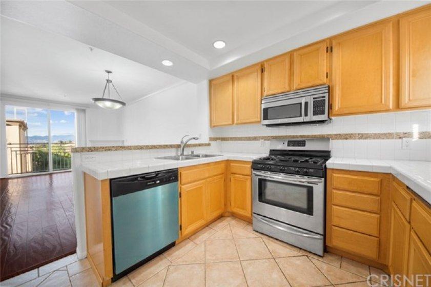 dishwasher, stove and microwave