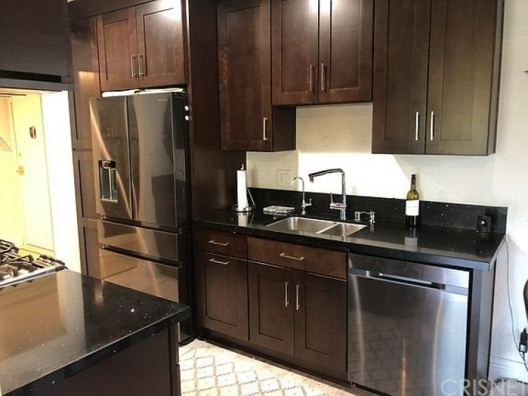 remodeled kitchen with new high end appliances