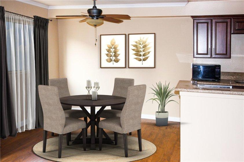 Dining Room VR Staged