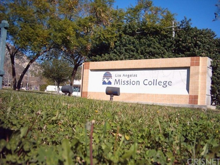 LA Mission College just 1 block away