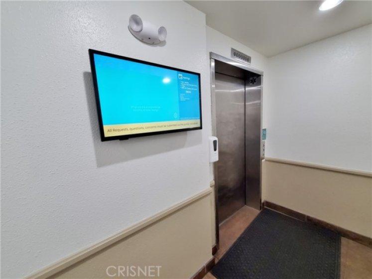 Elevator in lobby.