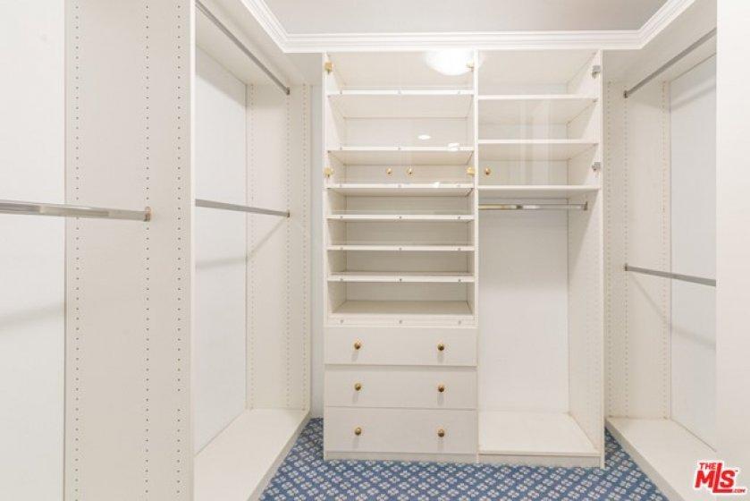 Organized, walk in closet
