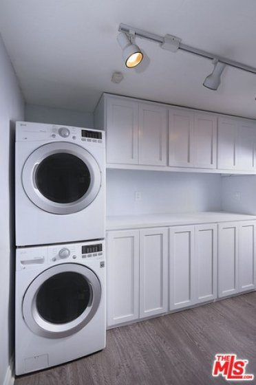 Washer and dryer in unit. Loads of storage space!