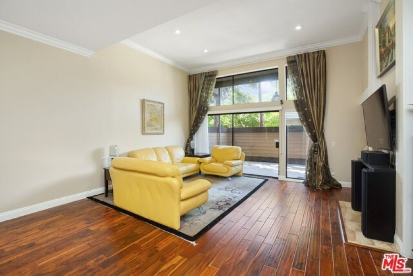 Living Room with near Floor to ceiling glass