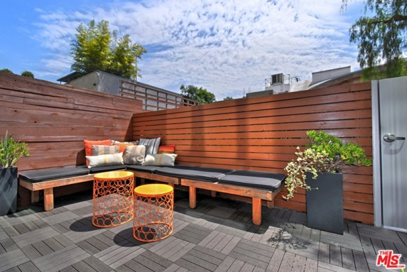 Comfortable seating under lots of open sky
