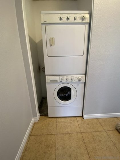 stackable washer dryer inside
