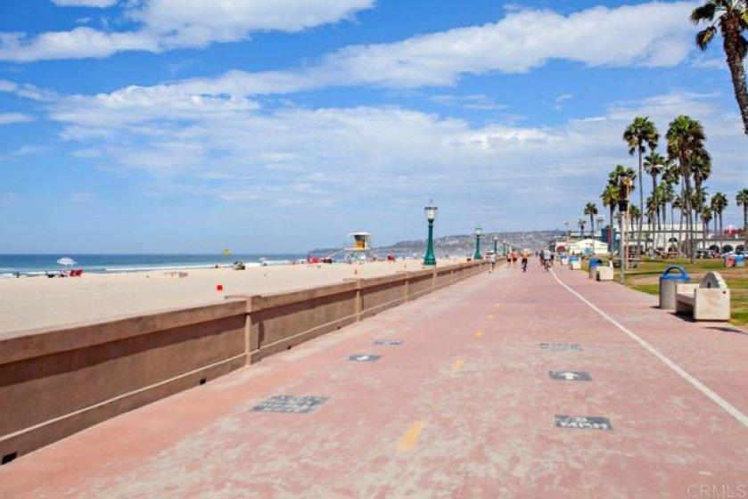 The famous boardwalk is just a short stroll away!