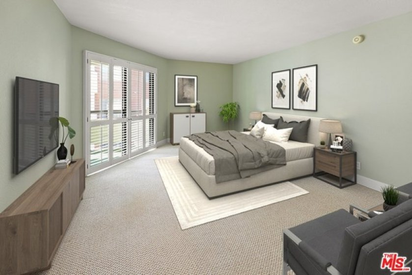 Primary Bedroom - Virtually Staged