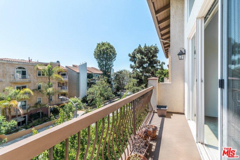 Wide Balcony wi Tree-Top Views