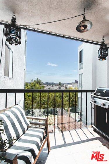 Balcony with City Views
