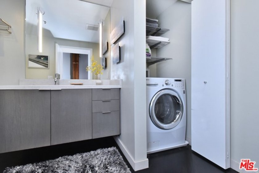 Washer-Dryer combo is easily acceible...