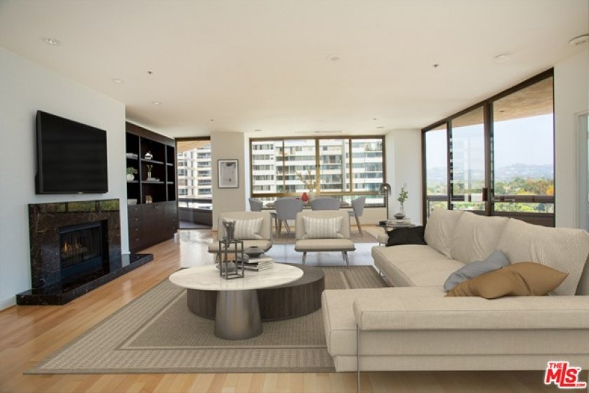 Living Room Staged Virtually