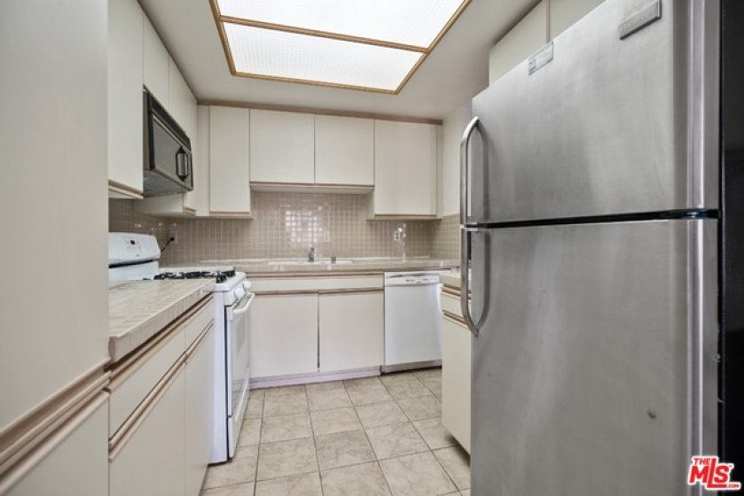 kitchen has a good deal of storage space
