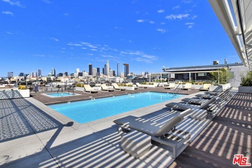 e iconic Barker Block rooftop pool