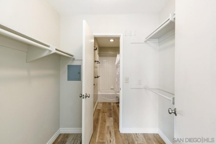 Walk thru closet from Master bedroom to Bath