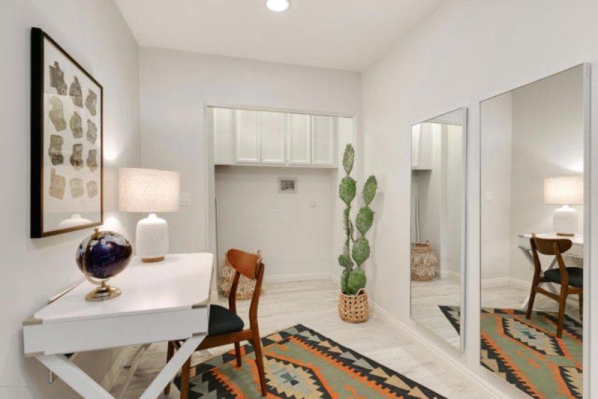 Downstairs laundry and bonus area