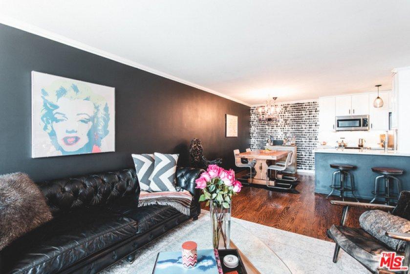 Living Room with Oak Floors