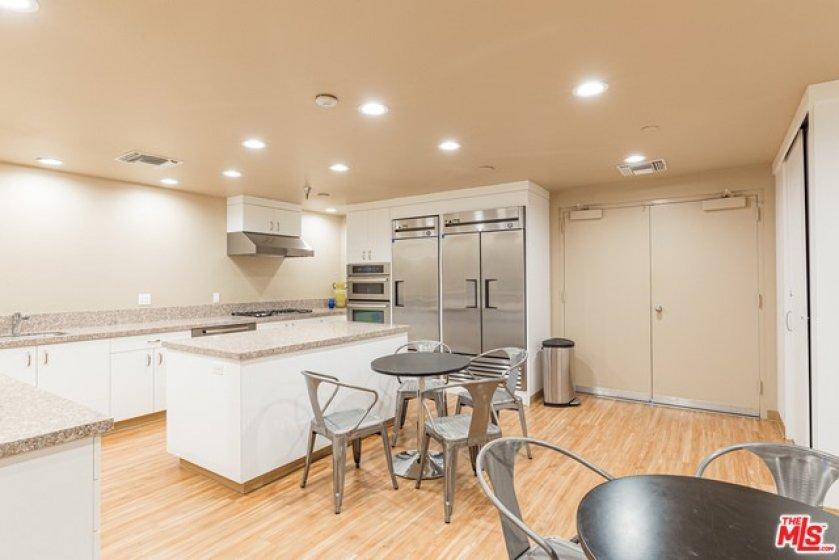 Chef's kitchen in community room