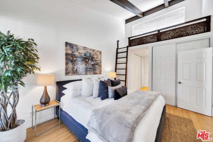 loft in master bedroom