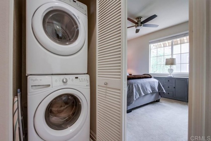 Laundry closet on third floor with all Bedrooms